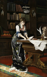 Th_Richter_Dame_in_der_Bibliothek