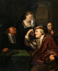 The_medical_examination_after_Godfried_Schalcken
