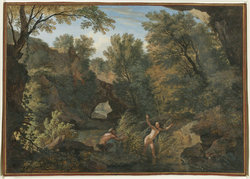 Rugged_river_landscape_with_a_nymph_surprised_by_a_satyr_by_Isaac_de_Moucheron