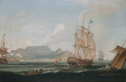 William_John_Huggins_-_The_East_IndiamenLowther_Castle_off_Table_Bay,_Cape_Town