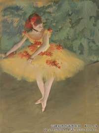 埃德加德加,Dancer-Making-Points-(Danseuse-faisant-des-pointes),1879-1880,Pastel-and-gouache-on-paper-mounted-on-board.48.26x36.83cm,Nelson