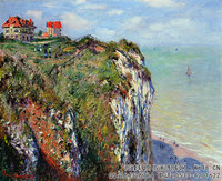 克劳德・莫奈Claude-Monet---Cliff-at-Dieppe-(1882)