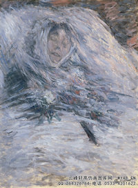 克劳德・莫奈Claude-Monet---Camille-Monet-on-her-Deathbed-(1879)