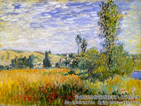 克劳德・莫奈Claude-Monet---Landscape-at-Vetheuil-(1880)