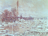 克劳德・莫奈Claude-Monet---Breakup-of-Ice,-Grey-Weather-(1880)