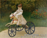 克劳德・莫奈Claude-Monet---Jean-Monet-on-his-Hobby-Horse-(1872)