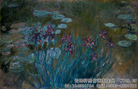 克劳德・莫奈Claude-Monet---Irises-and-Water-Lilies-(1914-1917)