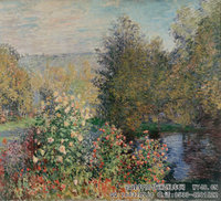 克劳德・莫奈Claude-Monet---Corner-of-the-Garden-at-Montgeron-(1876)