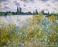 克劳德・莫奈Claude-Monet---Isle-of-Flowers-on-Siene-near-Vetheuil-(1880)