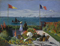 克劳德・莫奈Claude-Monet---Garden-at-Sainte-Adresse-(1867)