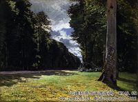 克劳德・莫奈Claude-Monet---Le-Pavé-de-Chailly-in-the-Forest-of-Fontainebleau-(1865)