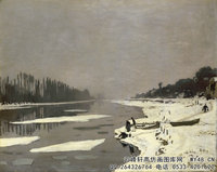 克劳德・莫奈Claude-Monet---Ice-Floes-on-the-Seine-at-Bougival-(1867-1868)