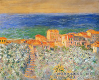 克劳德・莫奈Claude-Monet---Burgo-Marina-at-Bordighera(1884)