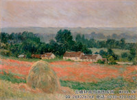 克劳德・莫奈Claude-Monet---Haystack-at-Giverny-(1886)