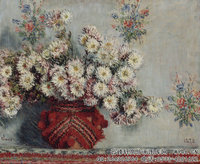 克劳德・莫奈Claude-Monet---Chrysanthemums-(1878)