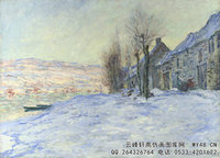 克劳德・莫奈Claude-Monet---Lavacourt-under-Snow-(1881)