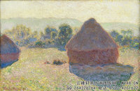 克劳德・莫奈Claude-Monet---Haystacks-in-the-Sunlight,-Midday-(1890)