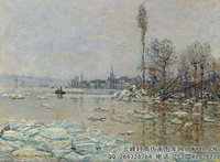 克劳德・莫奈Claude-Monet---Breakup-of-Ice-(1880)