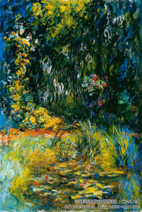 克劳德・莫奈Claude-Monet---Coin-du-bassin-aux-nympheás-(1914-1926)