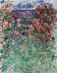 克劳德・莫奈Claude-Monet---House-among-the-Roses-(1925)